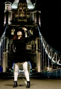 Lucy G on Tower Bridge, 2013, by Jessy Boon Cowler