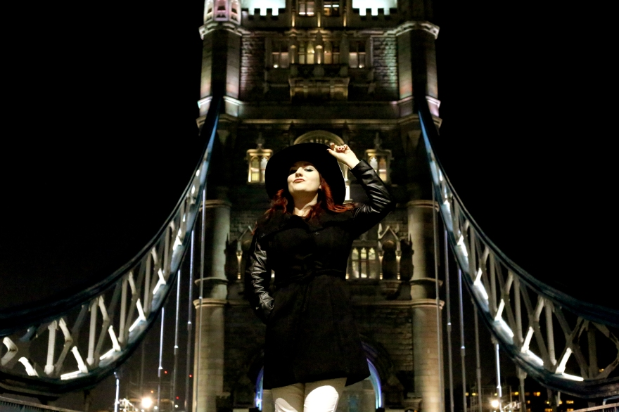 Lucy G on Tower Bridge, 2013, picture by Jessy Boon Cowler