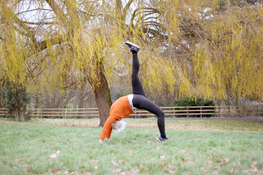 Aquila's Yoga pose in Springfield Park, north London, picture by Jessy Boon Cowler