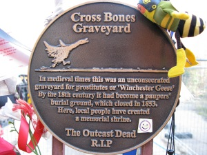 The Cross Bones Graveyard plaque