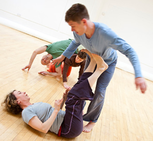 Contact improvisation at Moving East